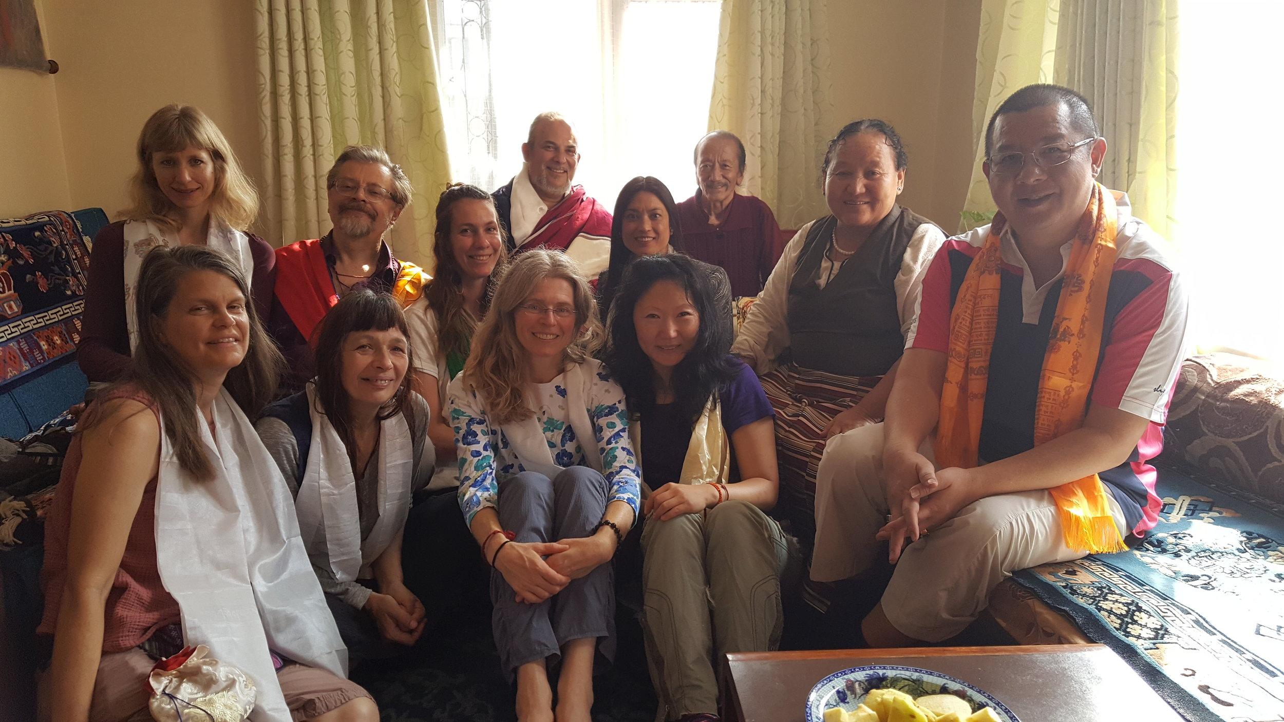 A group visit with Acharya Dawa Chodrak Rinpoche