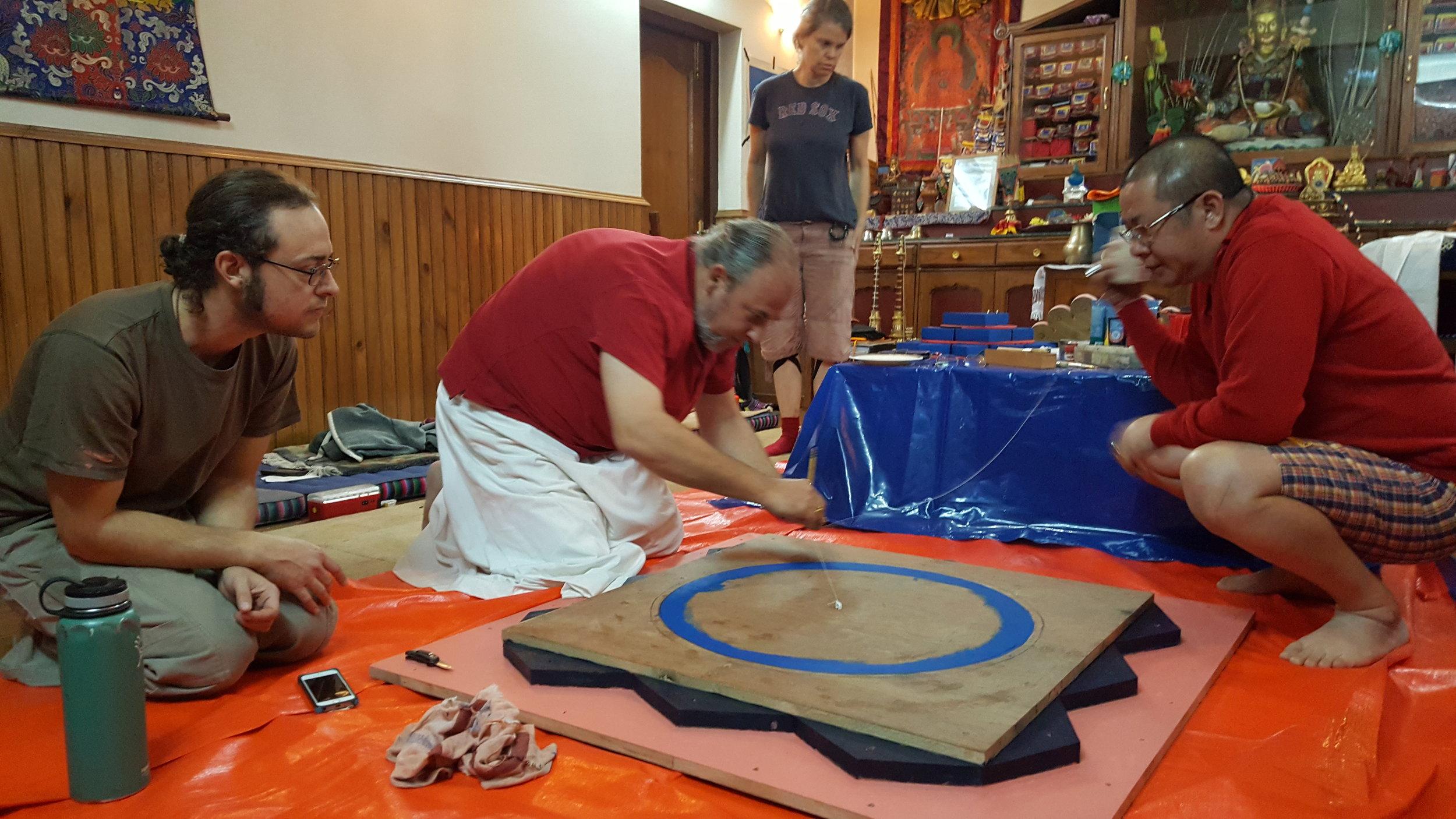 Preparing the mandala artwork