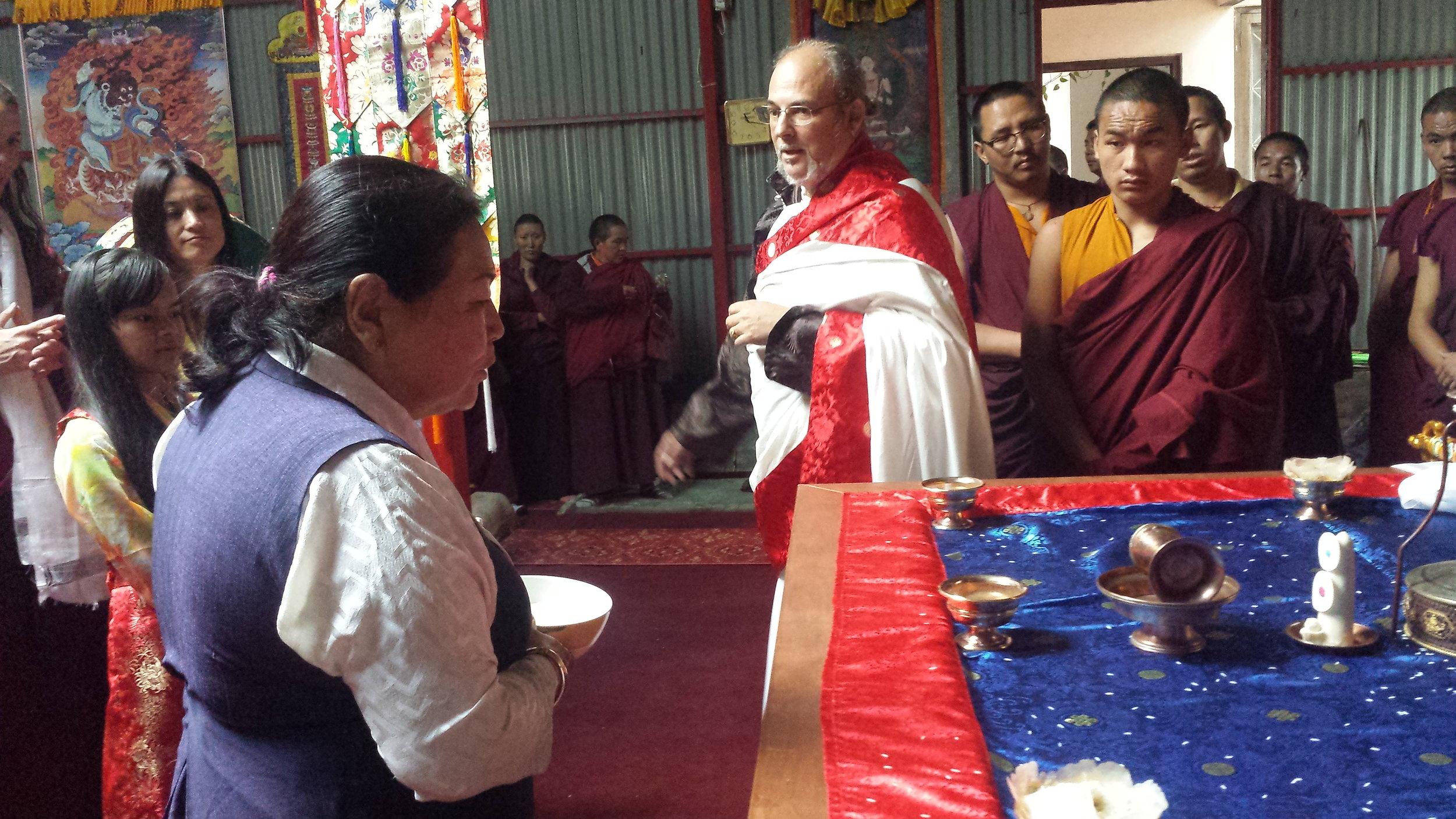 Sangyum blessing the Mandala ground