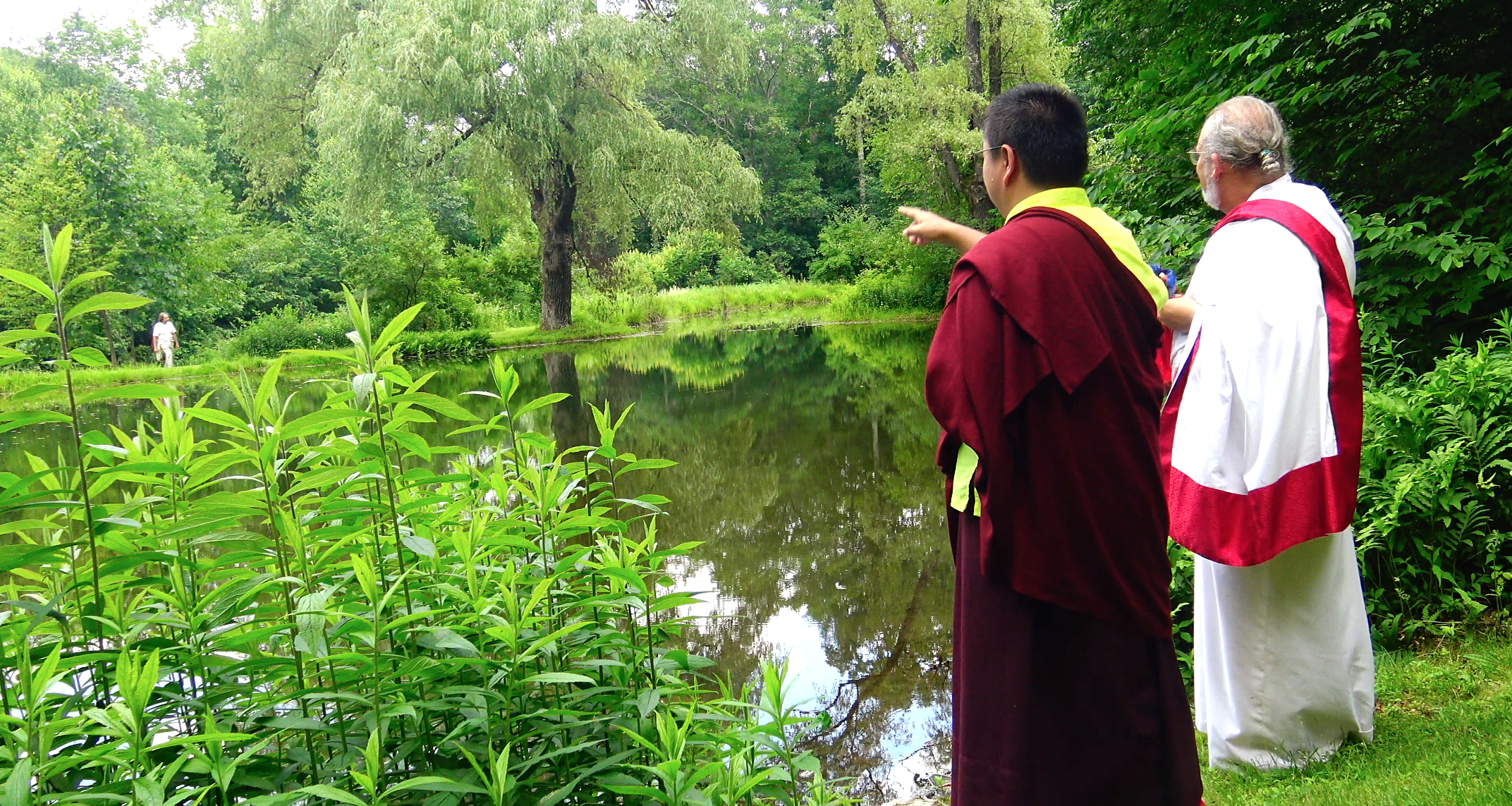 Rinpoche offering instruction on placement of sacred art works and supports