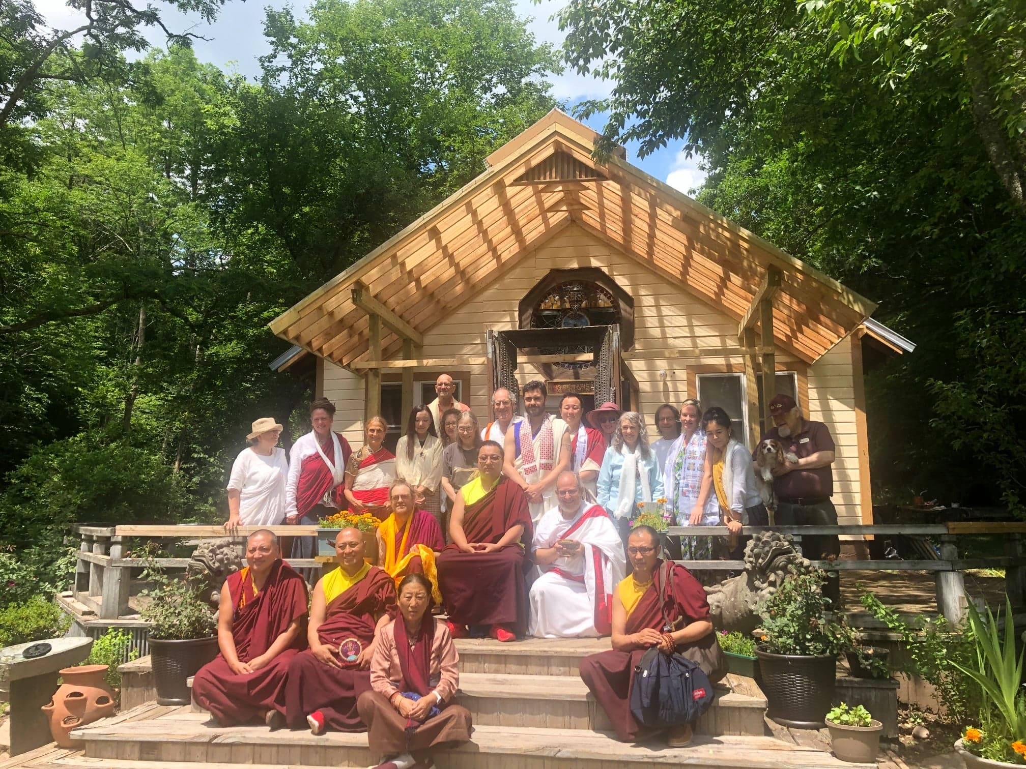 HH Yangsi Dudjom Pema Shepa Rinpoche at Bodhivastu's Big Indian Meditation Retreat Center