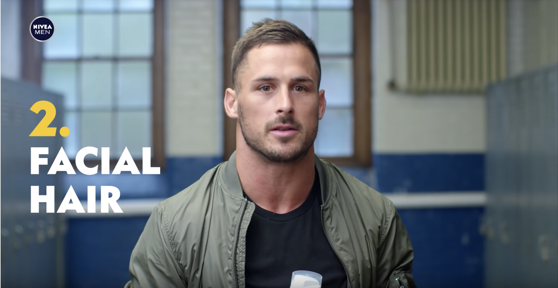 This is a screen grab from a spot we created for Nivea Men featuring Detroit Lions wide receiver Danny Amendola.