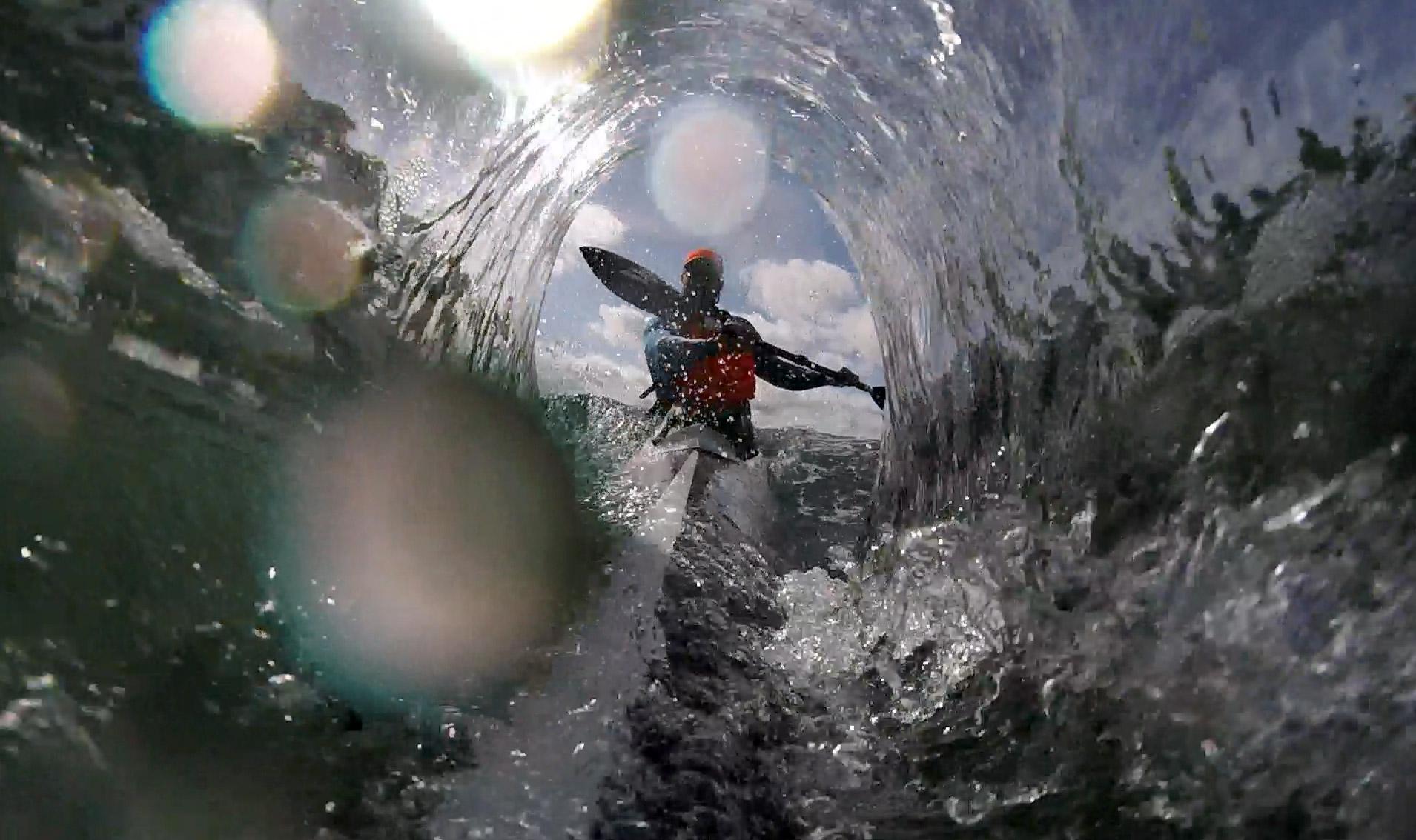Barrels in a surfski? Kinda.