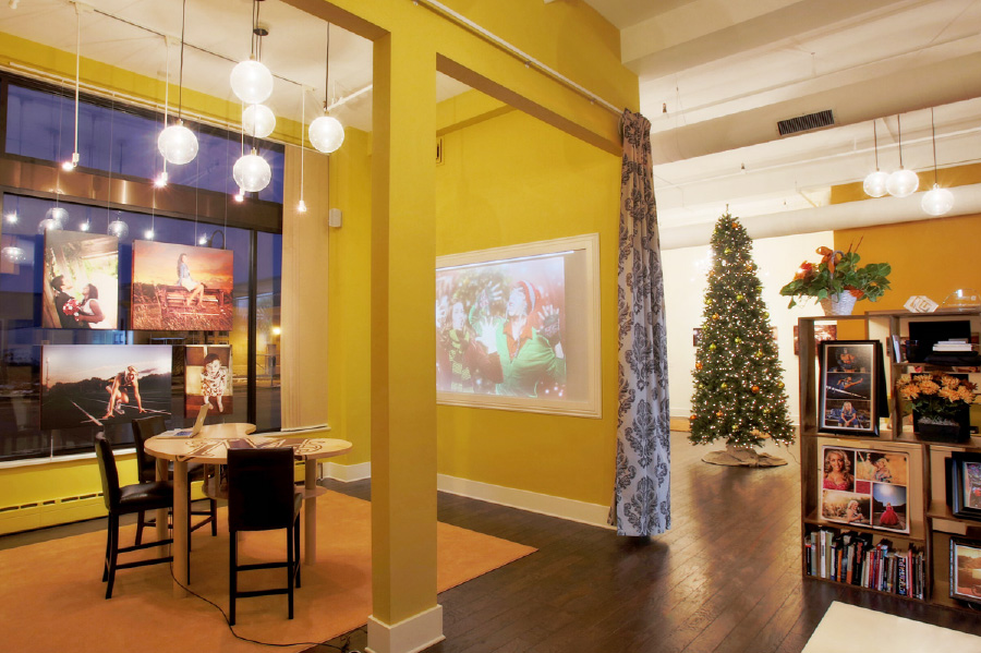 McClanahan Studio gallery interior at Christmas time