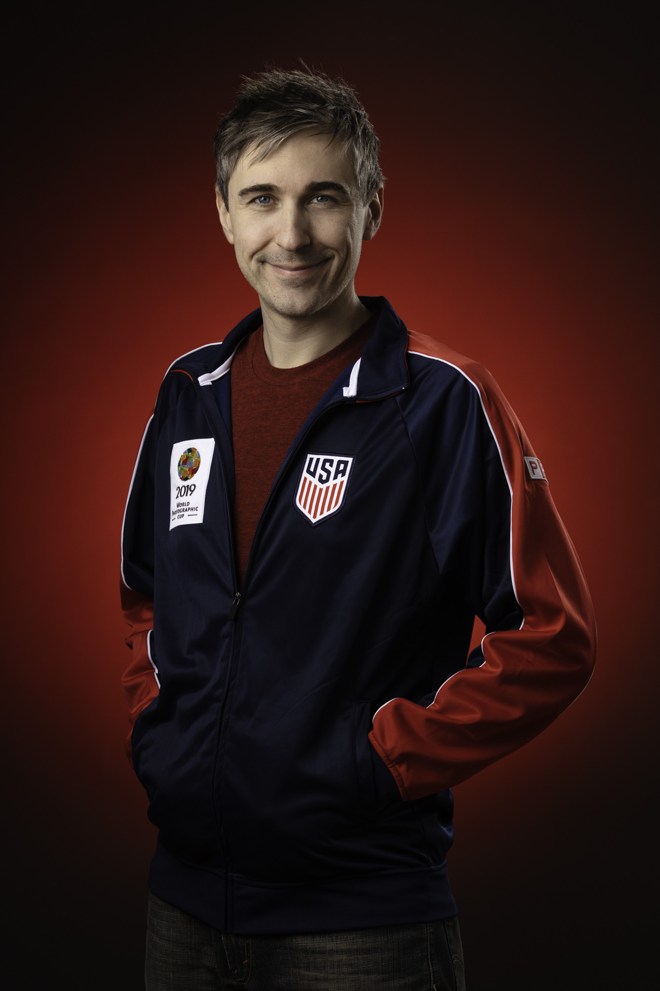 McClanahan sporting his Team USA jacket.