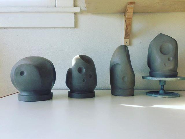 New series of sculptures... . #ceramics #pottery #sculpture #art #abstractart #abstract #design #newbeginnings #series #gallery