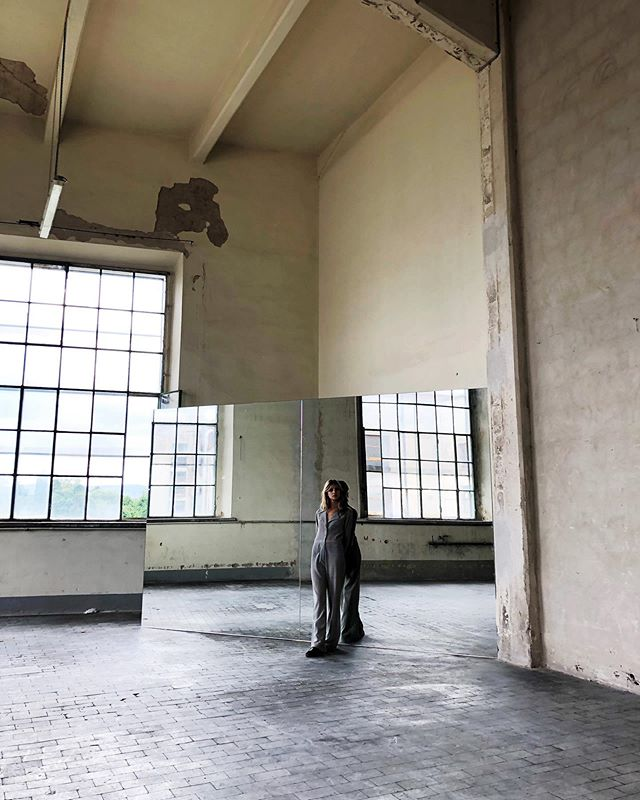 Standard fashion shoot with @claravannu and @bennipi in an abandoned fascist cigarette factory in Florence.