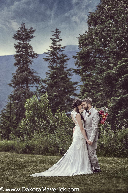 Grouse Mountain Wedding Portrait