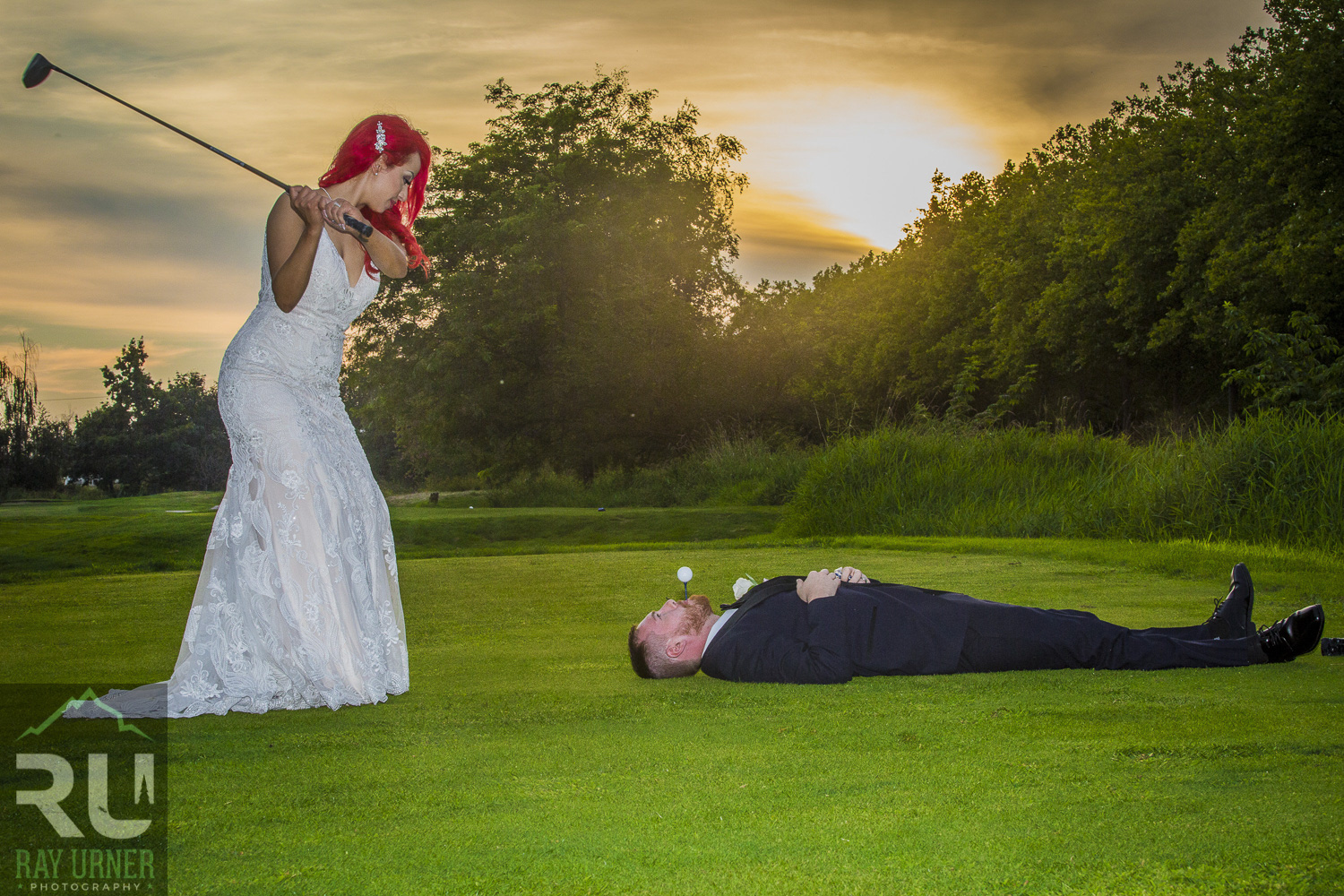 Iva and Kyle - Two golf nuts tie the knot!