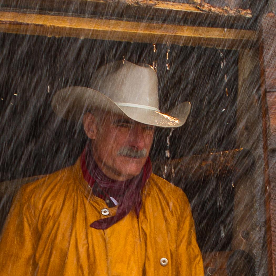 Cowboy in the Rain
