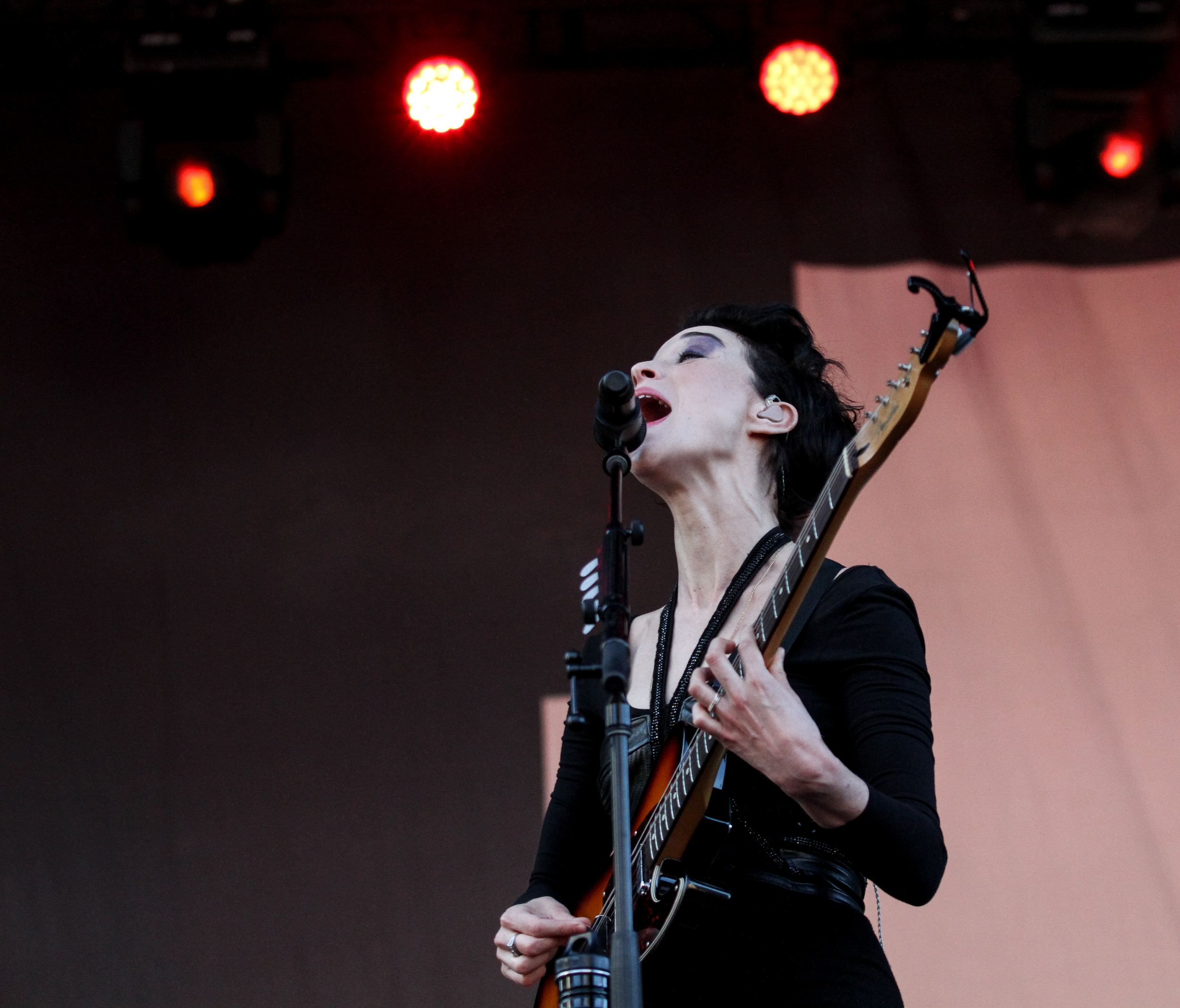 St. Vincent performs at Boston Calling on May 23, 2015 in City Hall Plaza.