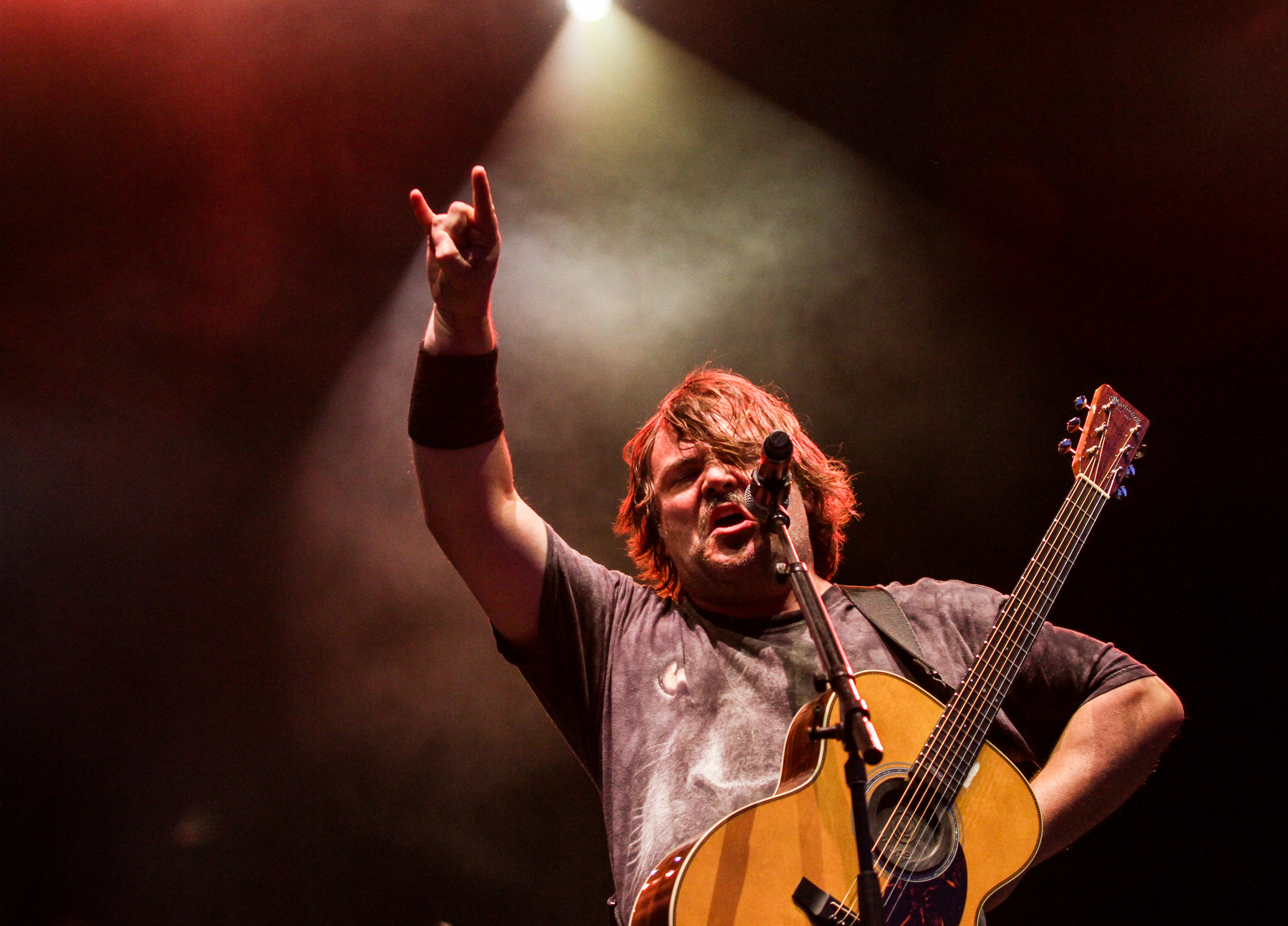 Jack Black ofTenacious D performs at Boston Calling on May 24, 2015 in City Hall Plaza.