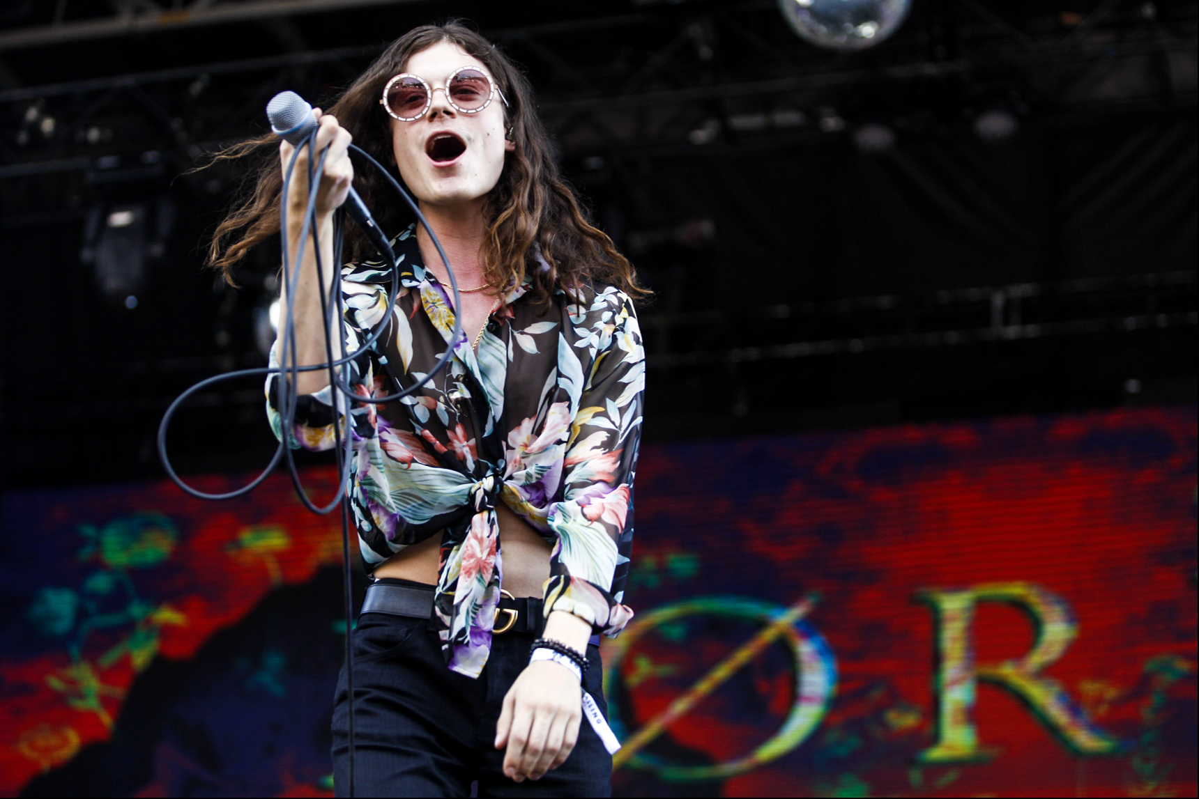 Børns performs during the second day of the festival.
