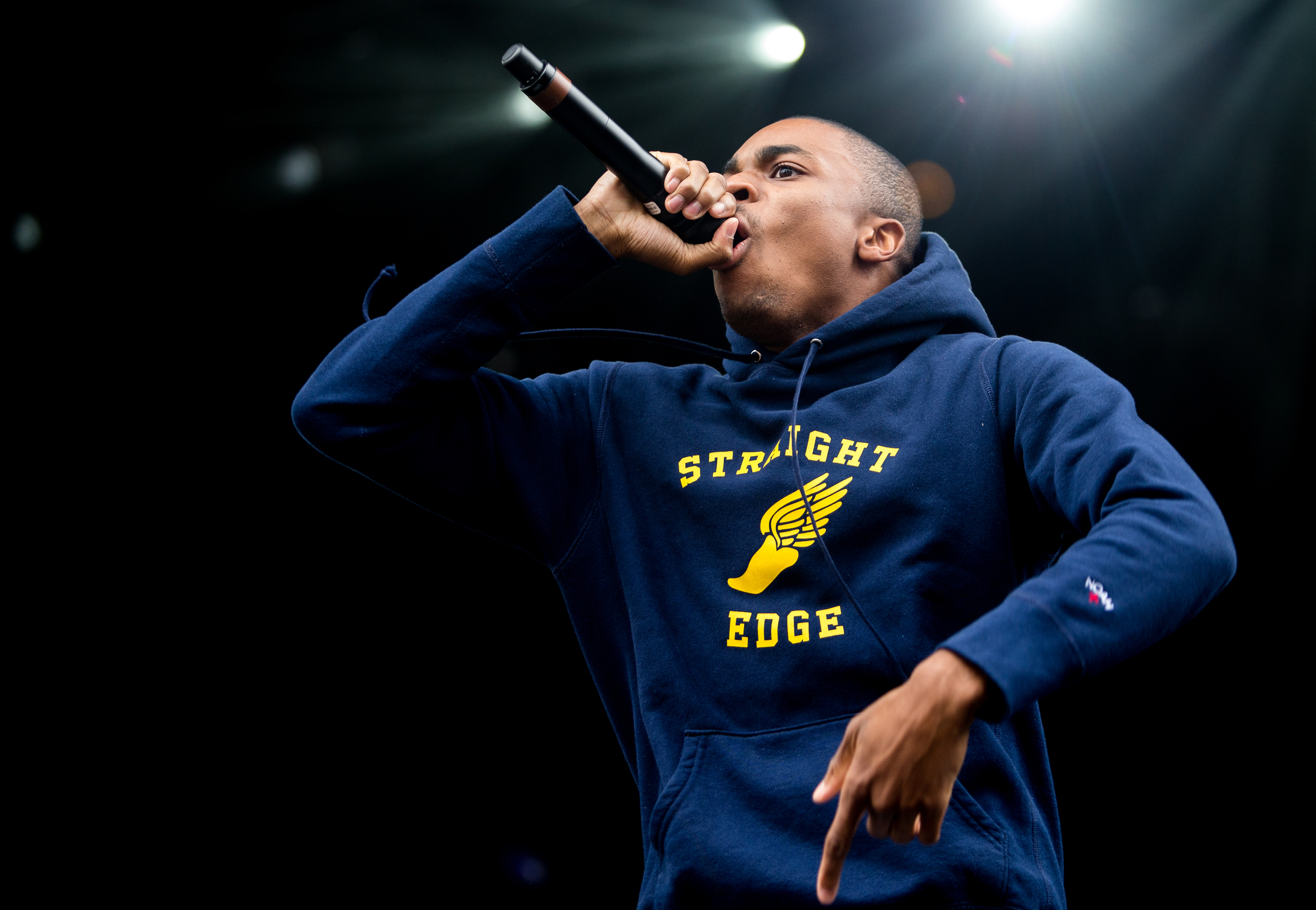 Vince Staples performs on Sunday.