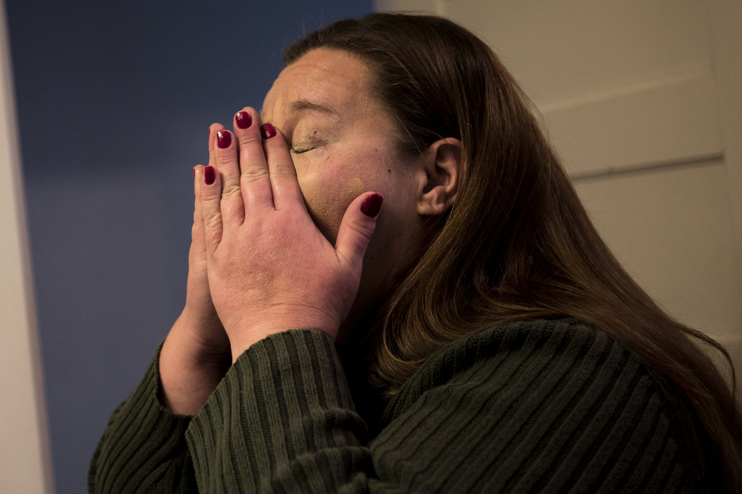 Jodi Chamberlain gets ready in her home in Wisconsin Rapids, October 10, 2017, to go to court to relinquish custody of her two sons to her sister-in-law. Though it was emotional, she said, it's for the best because she can maintain a relationship with them while focusing on recovery.