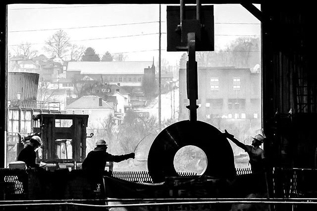 I photographed steel production today, so I guess you could say I'm ~officially~ a Pittsburgh photojournalist now. (Alexandra Wimley/Post-Gazette)