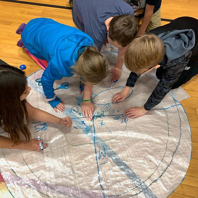 Hard at work drawing circles this morning! 🙌. #hovercrafts #thehovercraftproject #stemeducation #projectbasedlearninf