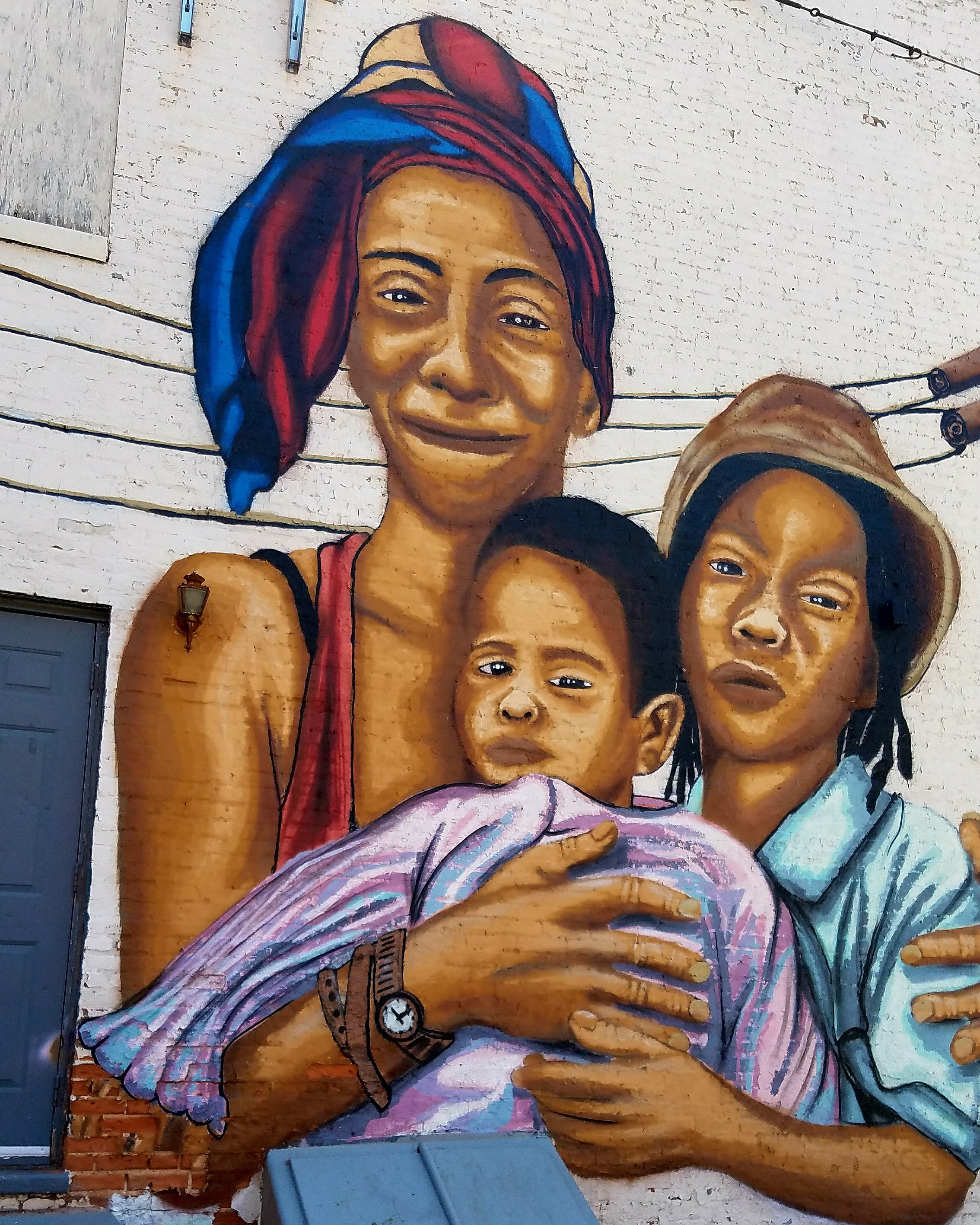 Mother and Children Mural By Nether