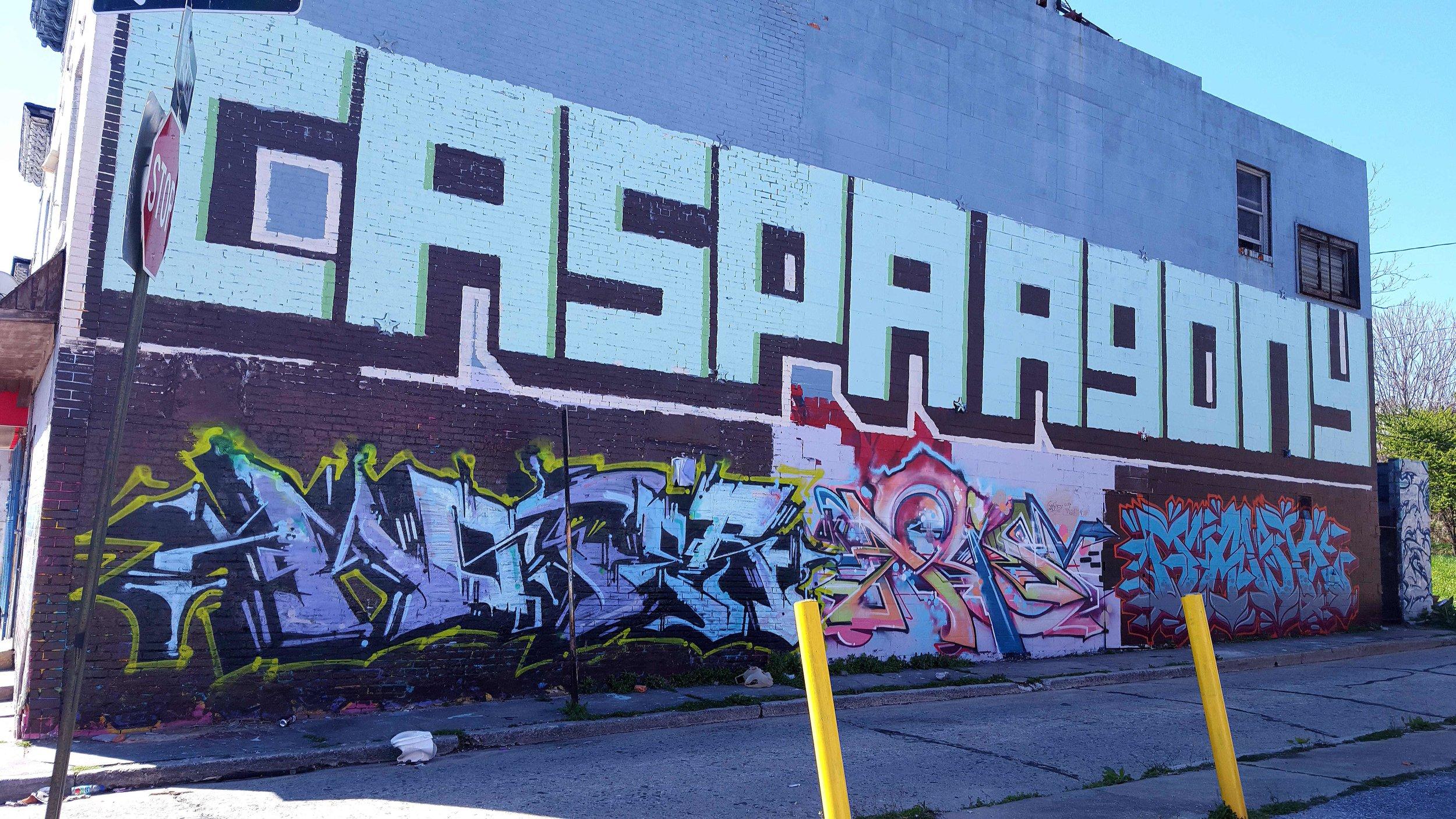 CASPA and AGONY Graffiti