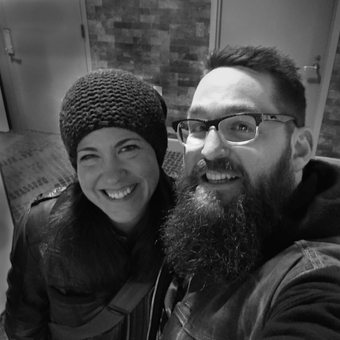 Lynn and Zac at the Hotel Vintage Portland after recording this episode!