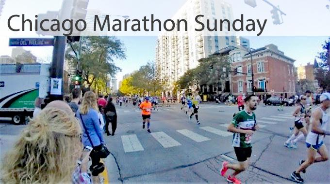 Chicago Marathon corner view