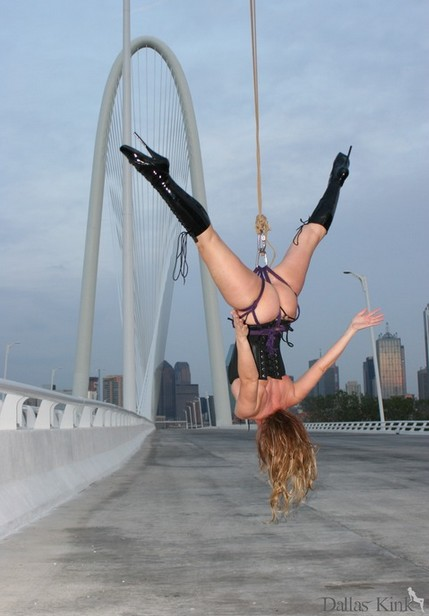 Margaret Hunt Hill Bridge, Oak Cliff - Photography and Rope by Dallas Kink