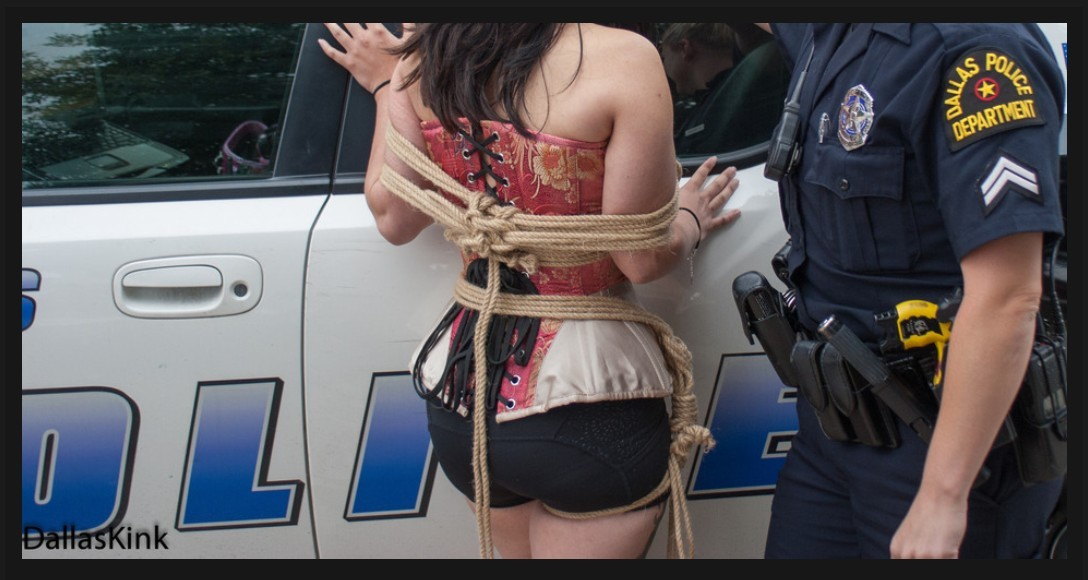 Caught by the Cops - Photography and Rope by Dallas Kink