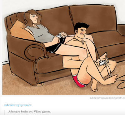 Video games are after care. Screenshot from  here .