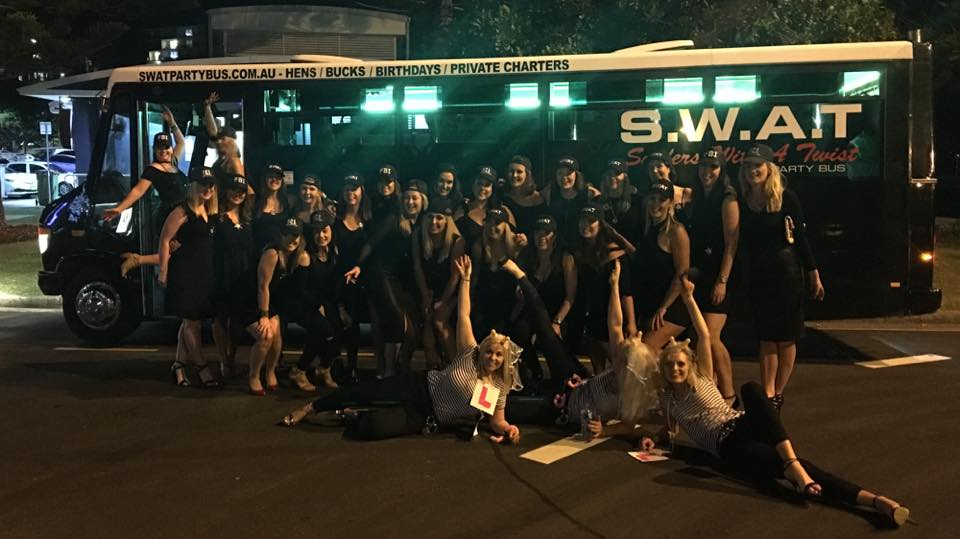 party bus hens night tour. packages available. pub crawl and male strippers.