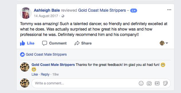 male stripper show byron bay