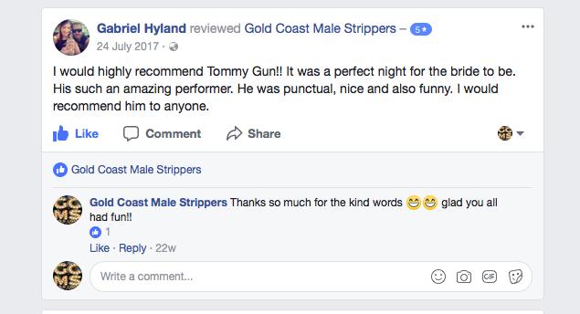 male stripper show sunshine coast