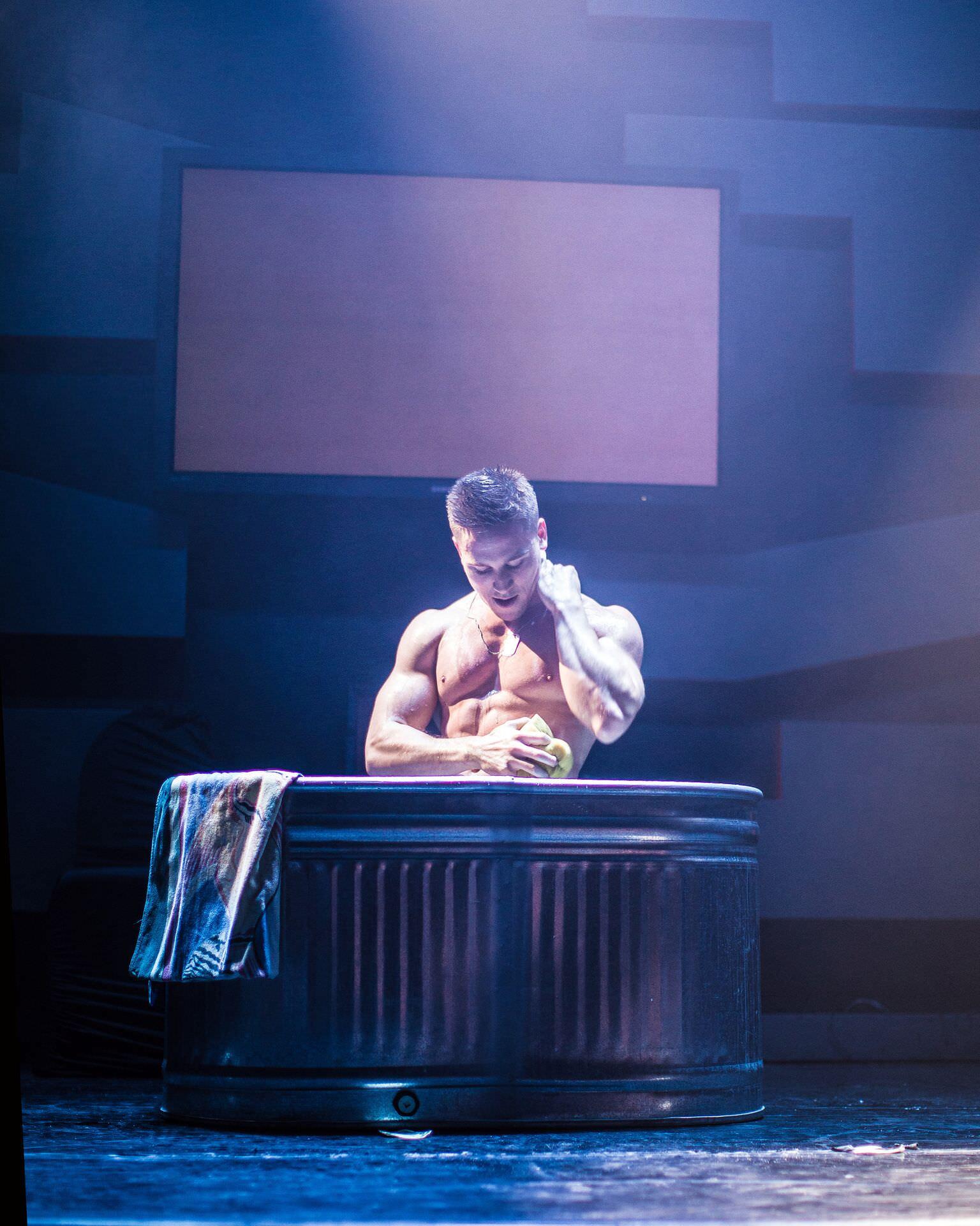 """Male stripper """"Tommy Gun"""" performing in Las Vegas!"""