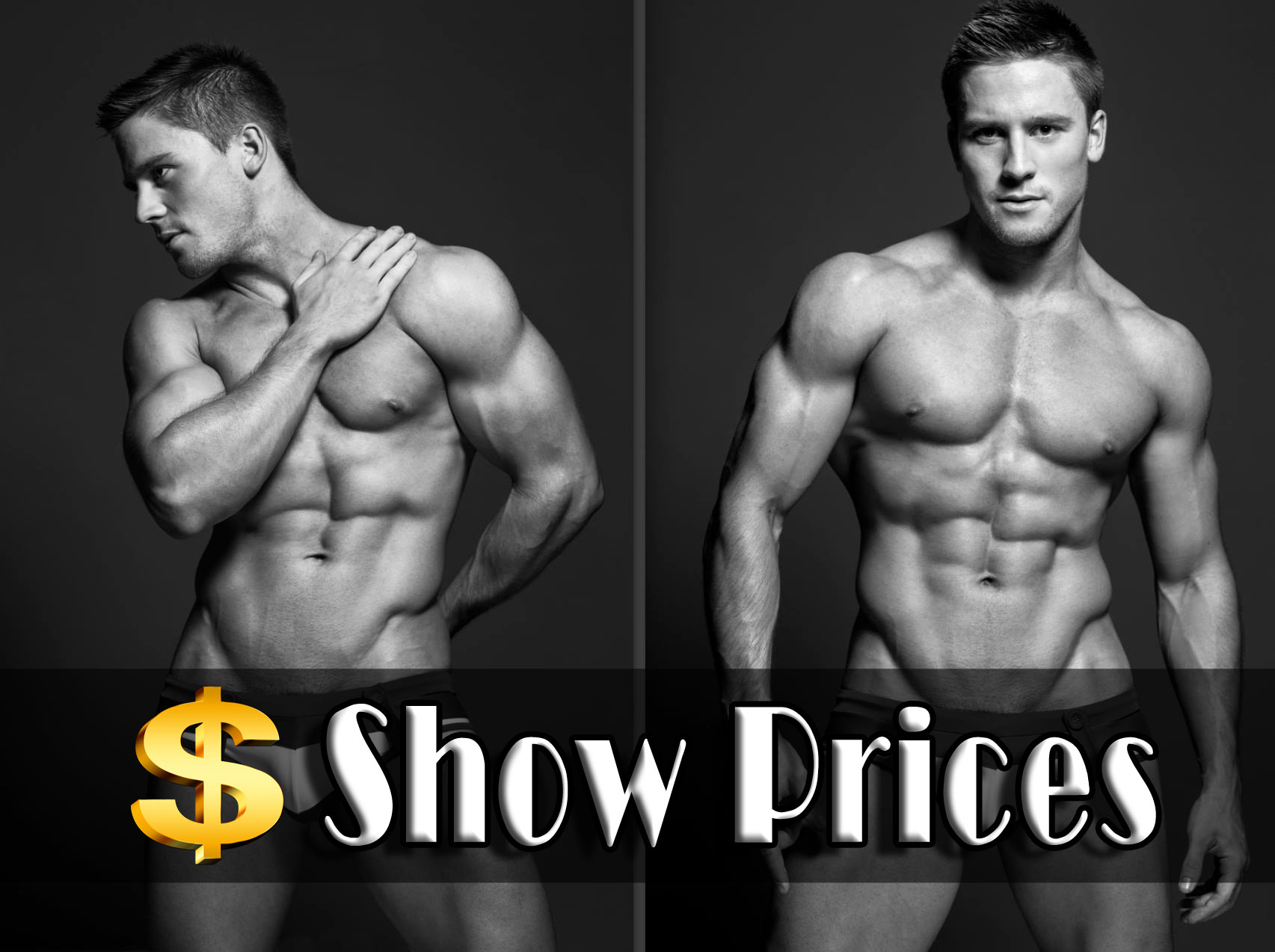 male STRIPERS for hens night available in the gold coast brisbane and byron bay. check out all our show pricing now