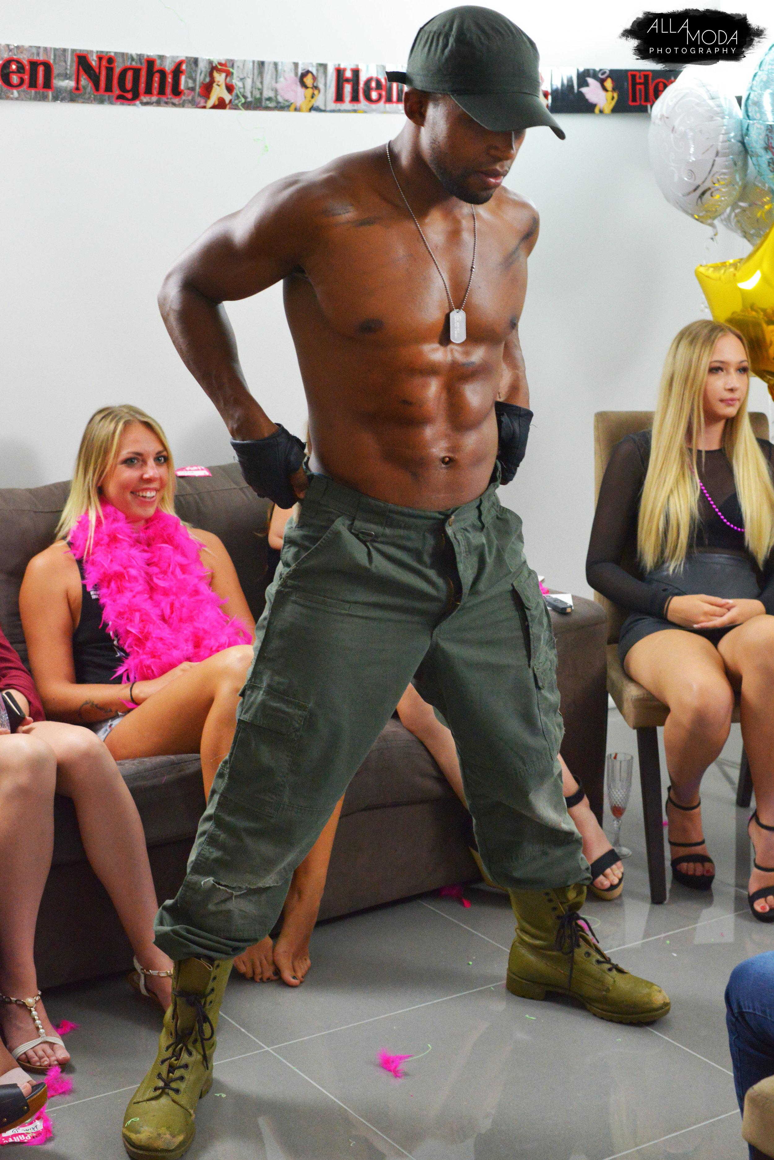 hire a balck african male stripper in brisbane or gold coast.