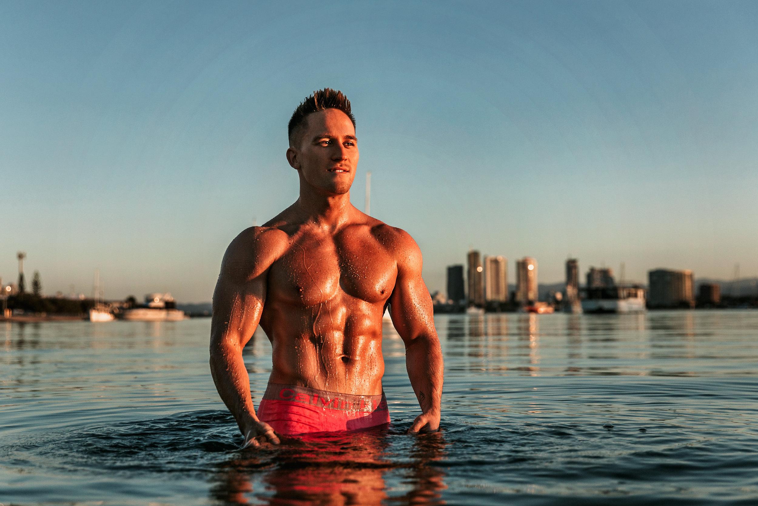 Hire male stripper tommy gun in the gold coast brisbane or byron bay