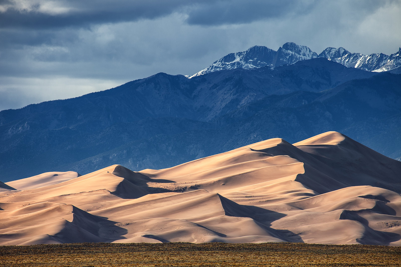 Star dune with the sangre de cristo mountains in the background