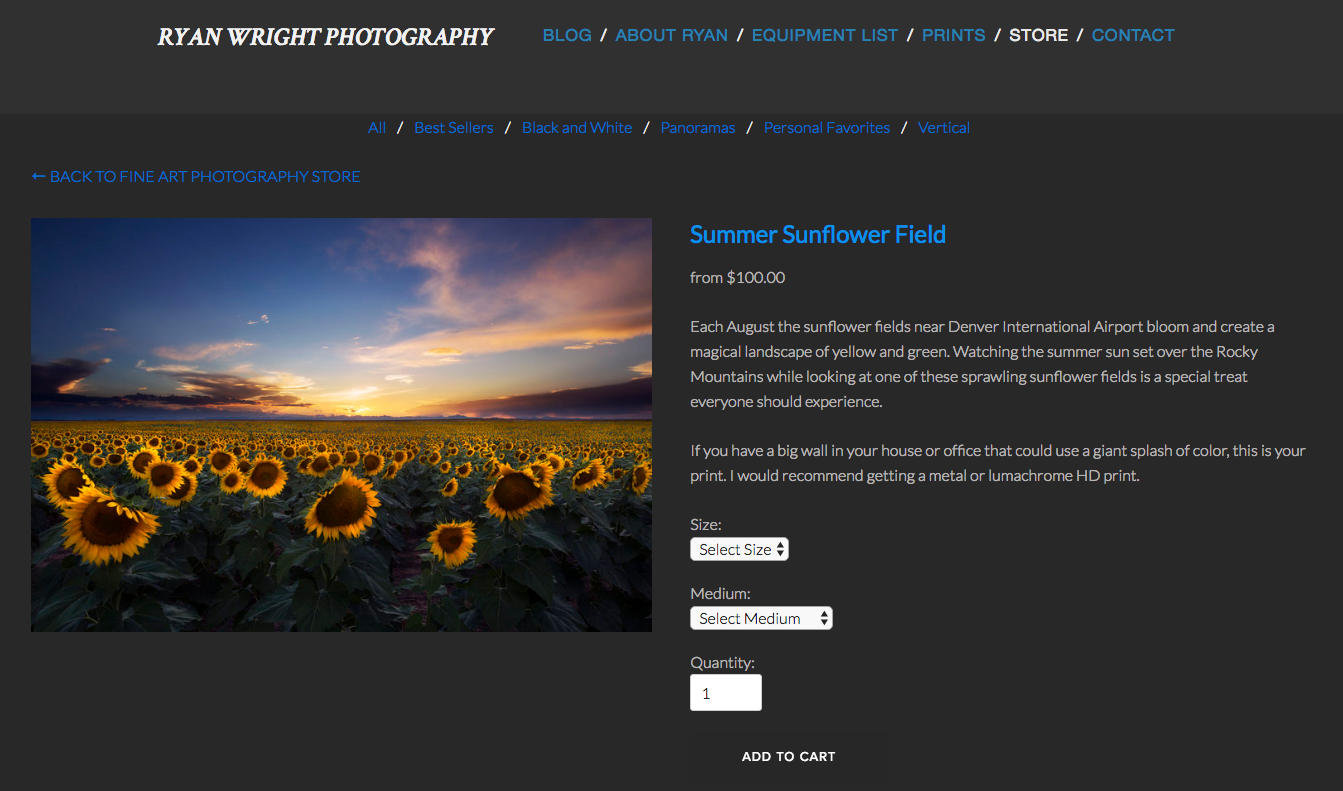 Squarespace's image display in the store. Definitely less cluttered and easier to use.