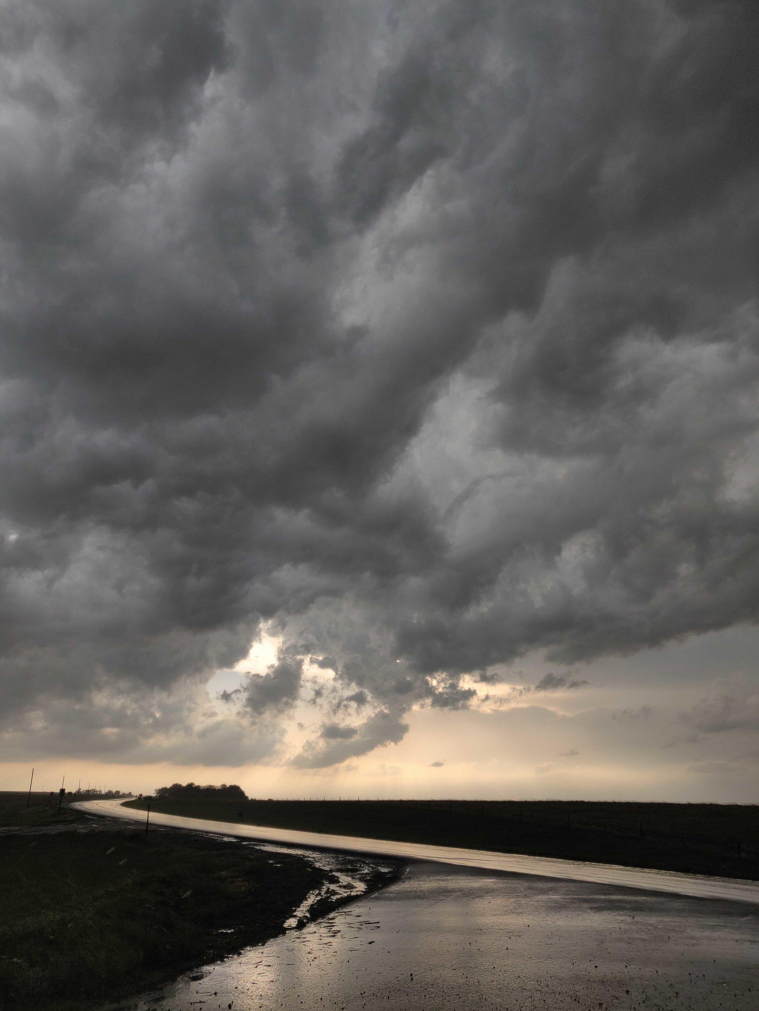 When the heavy rain subsided outside of Farnam, NE.