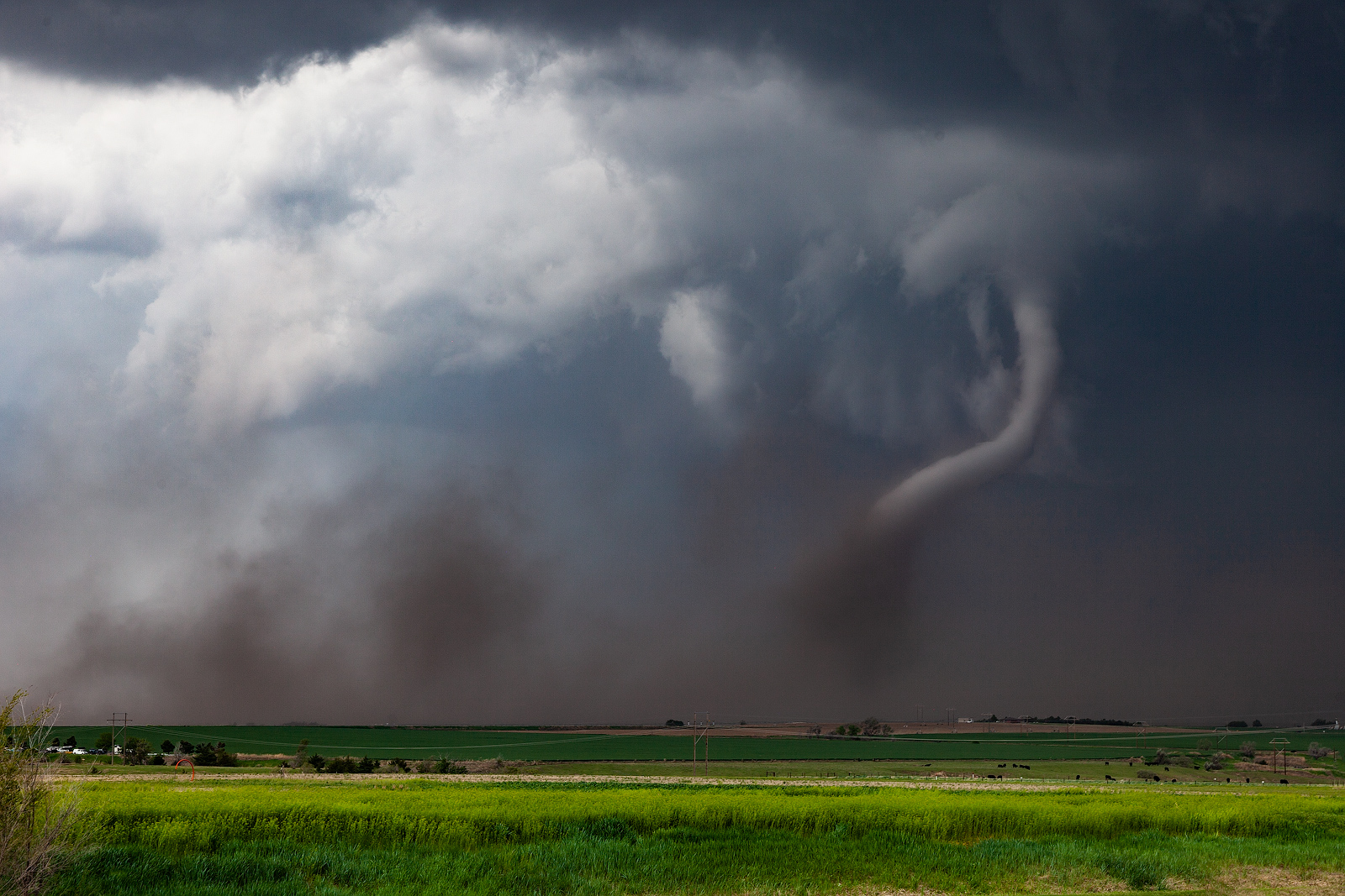 The McCook tornado roping out nearing the end of its life cycle on 5/17/19.