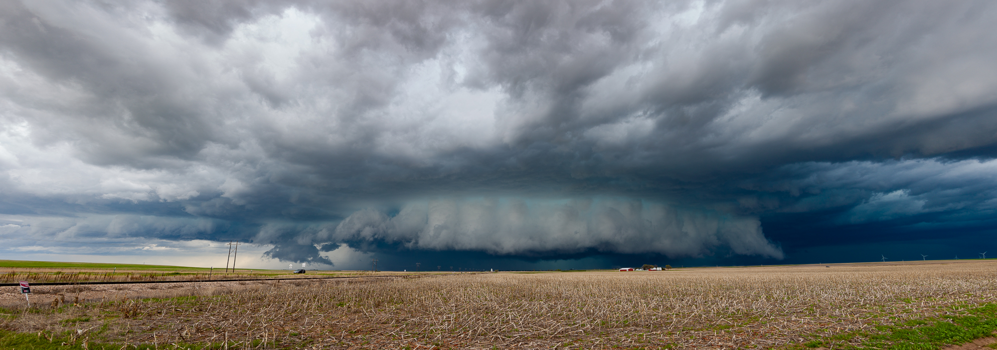 One more panorama from the wall cloud outside Flemming, CO.