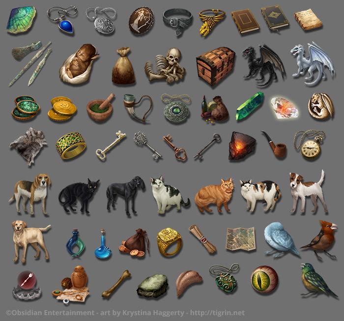 Pillars of Eternity item icons