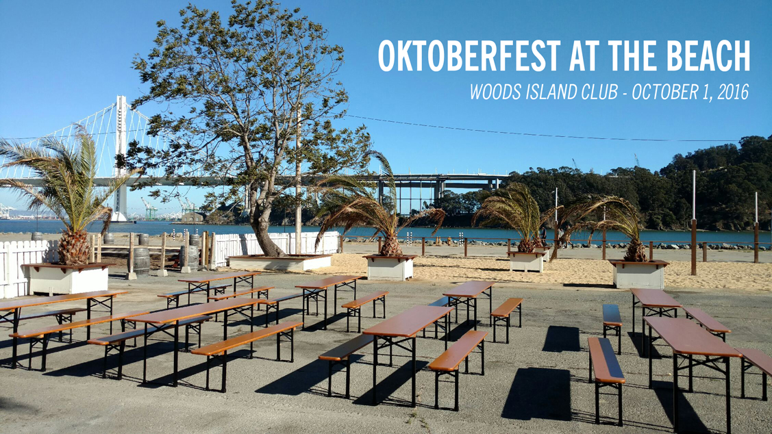 Celebrate Oktoberfest on Treasure Island   September 28, 2016  Come celebrate the re-release of our Retro Pilsner while we get festive by the Bay! Featuring a German-inspired pop-up from  Automat  by Chef Matt Kirk, formerly of Lazy Bear.  Oktoberfest at the Beach @ Woods Island Club 422 Clipper Cove Way Treasure Island, CA 94130  Saturday, October 1, 2016 12 PM to 6 PM