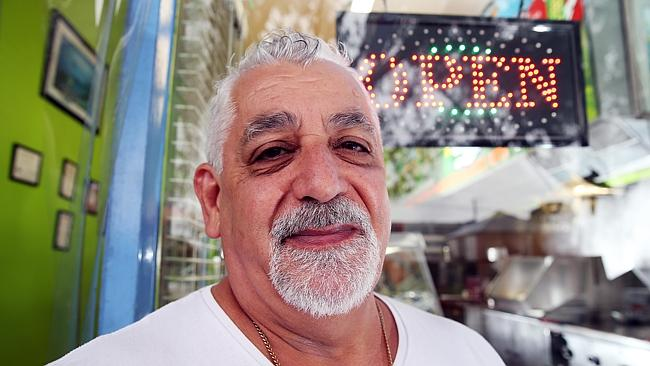 Defiant: Burnside fish 'n chip shop owner Peter Alevizos. Photo: The Advertiser