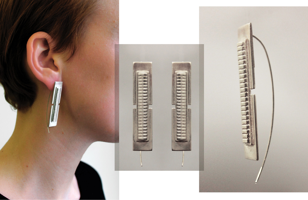 Simone Brewster Jewellery High Rise Silver Earring