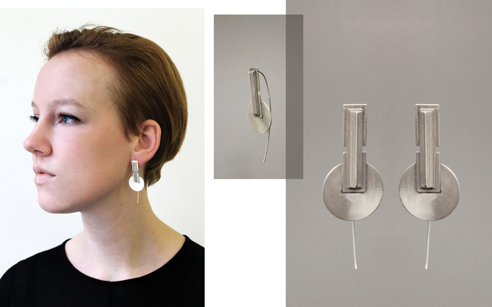 Simone Brewster Jewellery Disc Silver Earrings