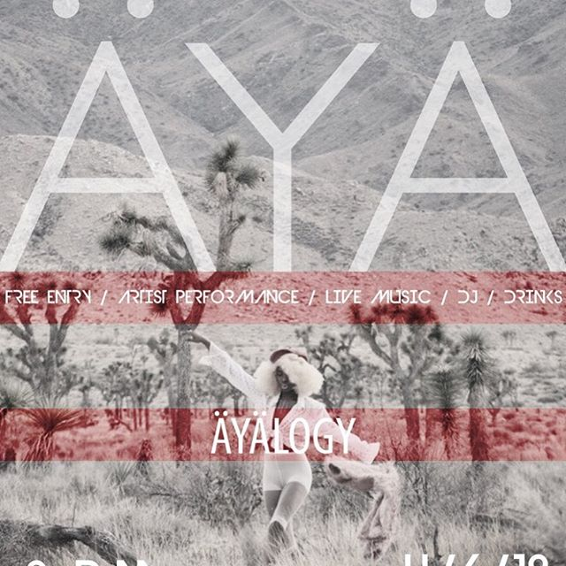 Tonight!  We're doing a great one!  It's a Coachella Official Launch Party downtown at @avenuedesarts_hk with the amazing @sayayanana & DJ @monikastarling 8pm start!  807 S Los Angeles St #aya #äyälogy #madeoffrecords #avenuedesarts #artgallery #coachella