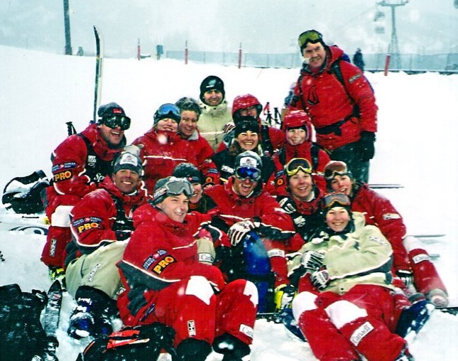 Mandi hayes seen with the canadian freestyle ski team