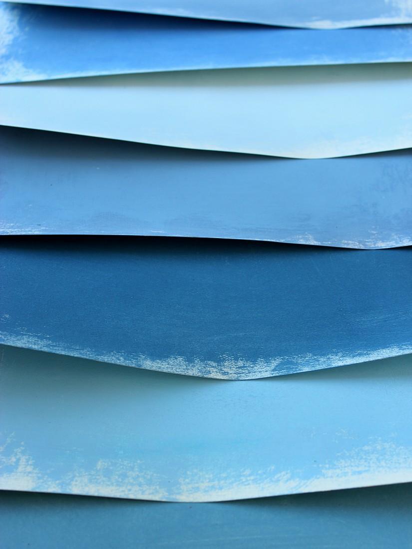 Bluue Paper Sheets,2014
