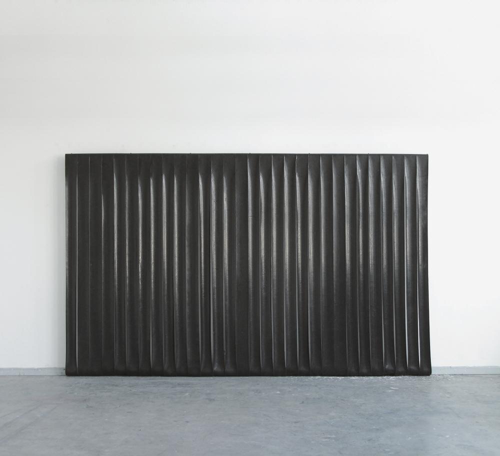 Untitled,2011.Silicone, pigment, cotton, steel270 x 440 cm
