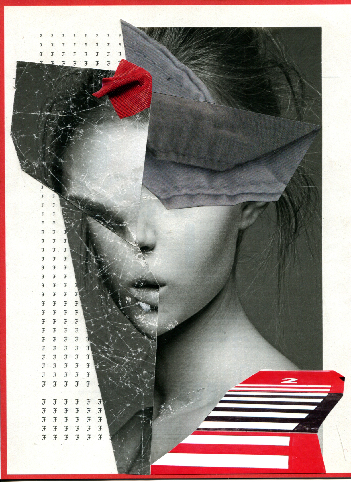 Explain #1 2013 21x29,7 cm original collage on paper